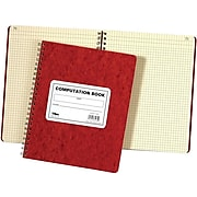 """TOPS Computation Notebook, 9-1/2"""" x 11-3/4"""", 76 Sheets, Graph Ruled, Red (TOP 35061)"""