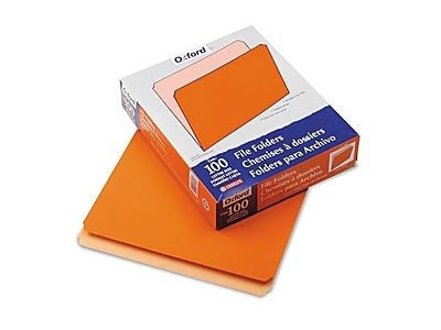 Pendaflex Two-Tone Top-Tab File Folders, Straight-Cut Tab, Letter Size, Orange, 100/Box (PFX 152 ORA)
