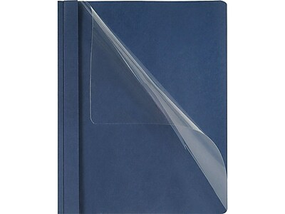 Oxford Double Stuff 3-Prong Report Covers, Letter, Navy, 5/Pack (OXF 54443)