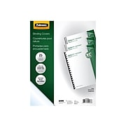 Fellowes Crystals Presentation Covers, Letter Size, Clear, 25/Pack (52043)