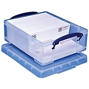 Really Useful Box® 8.1 Liter Snap Lid Storage Bin, Clear (8.1L CL)