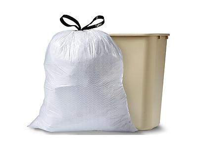 Glad ForceFlexPlus Kitchen Drawstring Trash Bags, Mediterranean Lavender, 13 Gallon, 80 Bags/Box (78902)