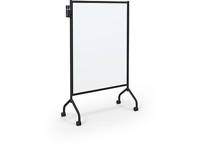 Essentials By Balt Mobile Dry-Erase Whiteboard, Anodized Aluminum Frame, 6' x 4' (62543)