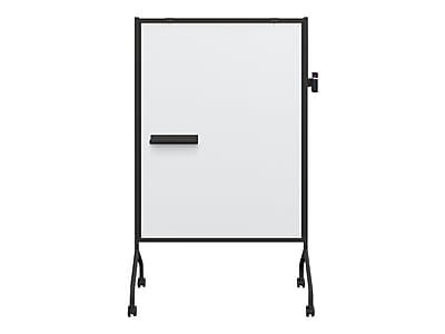 Essentials by Balt Mobile Magnetic Dry-Erase Whiteboard, Anodized Aluminum Frame, 5' x 3' (62544)