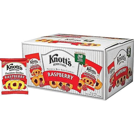 Knott's Berry Farm Cookies, Raspberry, 2 Oz., 36/Carton (BIS59636)