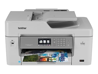 Brother Business Smart Pro MFC-J6535DW XL USB, Wireless, Network Ready Color Inkjet All-In-One Printer