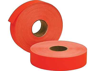 Avery Monarch 1131 Labels, 1-Line, Fluorescent Red, 2500/Roll (925075)