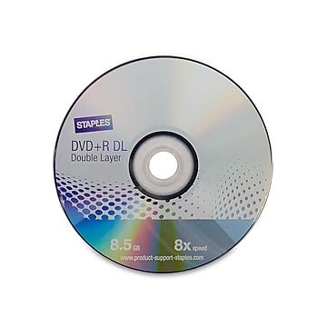 Staples 50816 8x DVD+R DL, Silver, 25/Pack