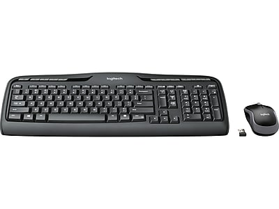 Logitech Desktop MK320 Wireless Keyboard & Mouse, Black (920-002836)