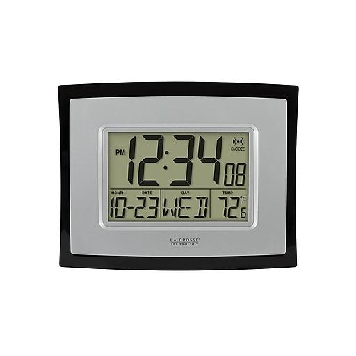 "La Crosse Technology Wall/Table Clock, 6.81""H x 8.62""W x 1.29""D (WT-8002U)"