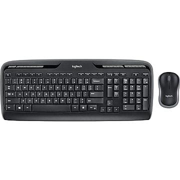 Logitech Desktop MK320 Wireless Keyboard & Mouse, Black (920-002836)