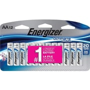 Energizer Ultimate Lithium Battery, AA, 12 Pack (L91SBP12)