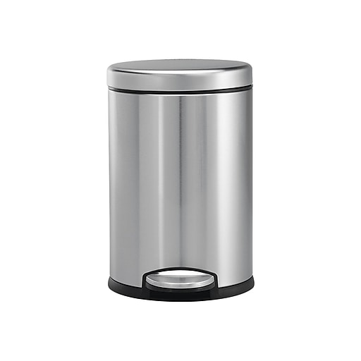 Simplehuman Mini Round Fingerprint Proof Step Trash Can Brushed