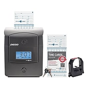 Pyramid Punch Card Time Clock System, Charcoal (2650)