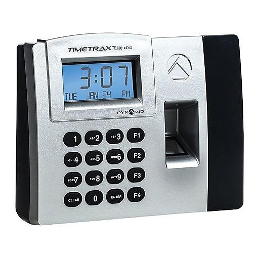 Pyramid TimeTrax Elite Fingerprint Time Clock System, Silver/Black  (TTELITEEK)
