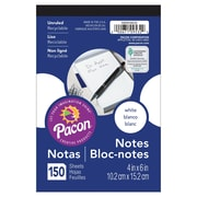 "Pacon Note Pad, 4""x6"", White, 12/Set (PACMMK09532)"