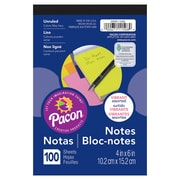 "Pacon Note Pad, 4""x6"", Assorted Neon Colours, 12/Set (PACMMK11508)"