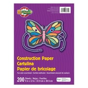 "Pacon® Little Fingers® Construction Paper, 9""x12"", Assorted Clours, 6 Packs of 200 Sheets Per Pack (PAC6534)"