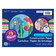 "Pacon® Construction Paper Class Pack, 9""x12"", Assorted Clours, 480 Sheets (PAC129251)"