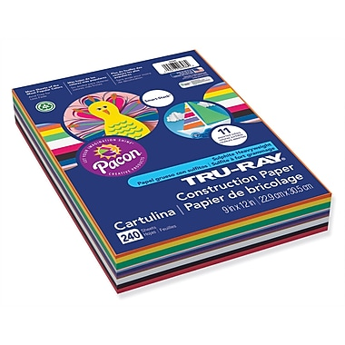 Pacon® Tru-Ray® Sulphite Construction Paper, 9