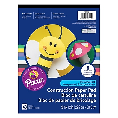 Pacon® Heavyweight Construction Paper Pad, 9