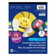 "Pacon® Heavyweight Construction Paper Pad, 9"" x 12"", Assorted, 288/Set (PAC104612)"