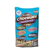 SNICKERS, TWIX, MILKY WAY & 3 MUSKETEERS Individually Wrapped Minis Size Chocolate Bars, 40 oz Variety Mix Bag (MMM20319)