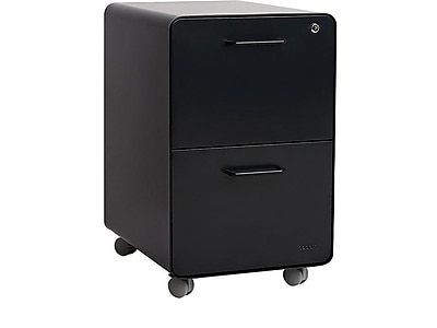 poppin stow file cabinet rolling 2 drawer black 103107 staples rh staples com 2 drawer mobile file cabinet black gigi 2 drawer mobile file cabinet