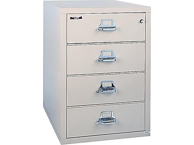 """FireKing Classic 4-Drawer Lateral File Cabinet, Locking, Beige, Letter/Legal, 31.19""""W (4-3122-CPA)"""