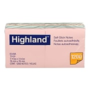 """Highland™ Notes, 3"""" x 3"""", Assorted Colors, 12 Pads (6549A)"""