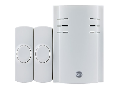 GE 19300 Wireless Door Chime with 8 Sounds, White
