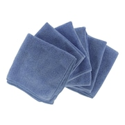 "Shaxon 12"" x 12"" Ultra Absorbent Microfiber Cleaning Cloth, Blue, 6/Pack (SHX-MFW6-B)"