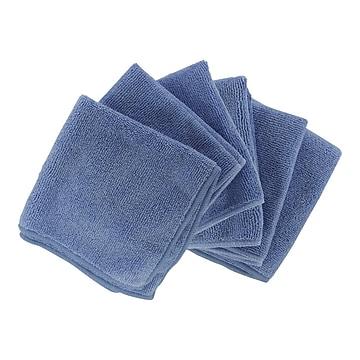 "Shaxon 12"" x 12"" Ultra Absorbent Microfiber Cleaning Cloth, Blue, 6/Pack (SHX-MFW6-B)"