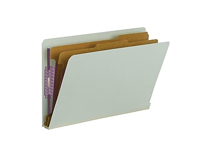 Smead End Tab Psbd Classification Folder w/SafeSHIELD Fasteners, 2 Divider, 2