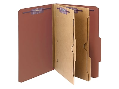 Smead Pressboard Classification File Folder w/ Wallet Divider and SafeSHIELD Fasteners, 2
