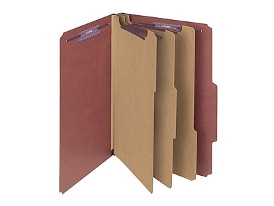 Smead Pressboard Classification Folders with SafeSHIELD Fasteners, 3