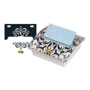 """Post-it Pop-Up Dispenser for 3"""" x 3"""" Notes, White and Black Brocade (DS330-BWB)"""