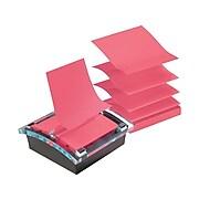 "Post-it® Super Sticky Pop-Up Notes Dispenser for 3"" x 3"" Notes, Black, 12 Pads (DS330-SSVA)"