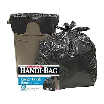 Webster Handi-Bag 30 Gallon Trash Bags, Black, 60 Bags/Box (HAB6FT60-657500)