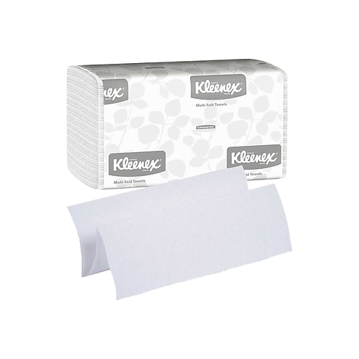 Kleenex Multifold Paper Towels, 1-Ply, 150 Sheets/Pack, 4 Packs/Carton (88130)