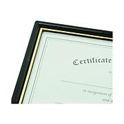 NuDell EZ Mount Plastic Certificate Frame, Black (11880)