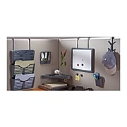 Diversity Products Solutions by Staples Verti-Go 3-Pocket Plastic Wall File, Charcoal (DPS21659-CC)