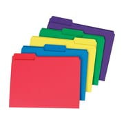 Staples Interior File Folders, 3-Tab, Letter Size, Assorted Colors, 100/Box (378995)