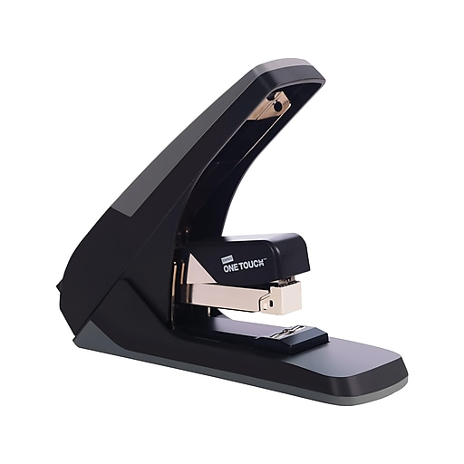 Staples One-Touch™ High-Capacity Flat-Stack Stapler, 60 Sheet Capacity, Black/Gray