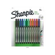 Sharpie® Felt Pens, Fine Point, Assorted Ink, Dozen (1802226)