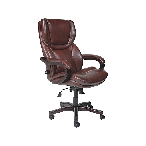 Serta Bonded Leather Executive Tall Chair Rich Espresso Chr200001