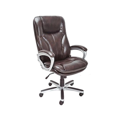 Serta Leather Executive Tall Chair Roasted Chestnut Chr200094