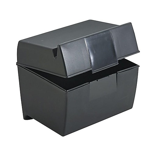 "Oxford 4"" x 6"" Index Card Box, Black (OXF 01461)"