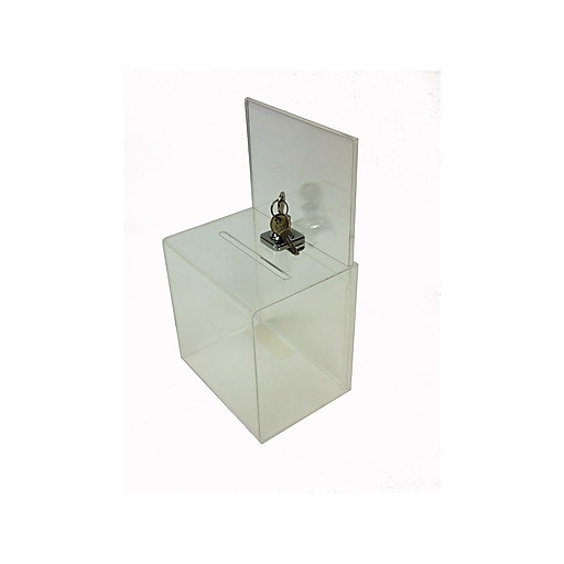 Sandusky Buddy Locking Acrylic Collection Box, Clear (SASB-0)