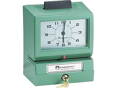 Acroprint Model 125 Punch Card Time Clock System, Green (01-1070-400)